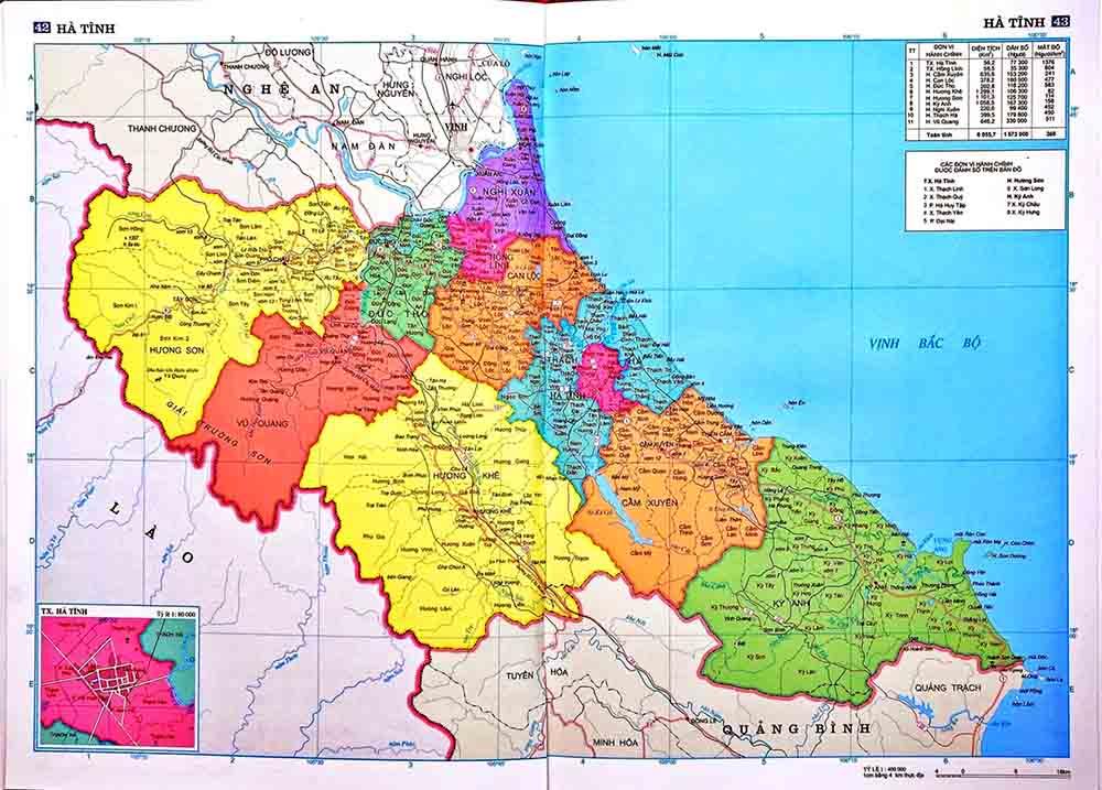 Bản đồ Hà Tĩnh